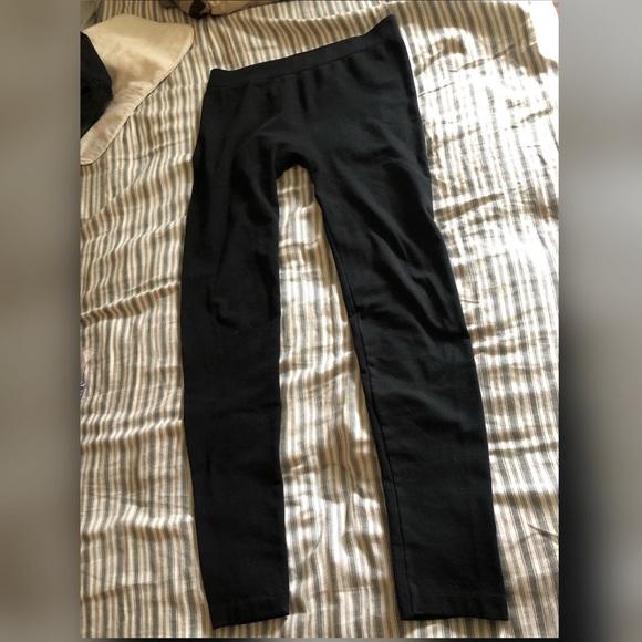 🔴Leggings Warm Fleece Pants Classic Black Sz X/XL